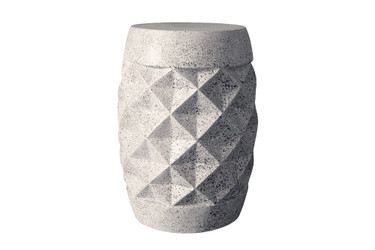 Pineapple Table Stool (Fiberglass resin and aggregate in white stone finish)