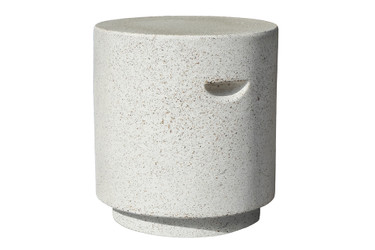 Aileen Table Stool (Fiberglass resin and aggregate in natural stone)
