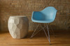 Facet Side Table (Fiberglass resin and aggregate in aged stone)
