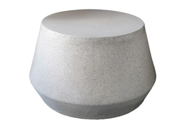 "Tom 24"" Diameter Coffee Table (Fiberglass resin and aggregate in gray stone finish)"