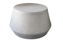 Tom Coffee Table (Fiberglass resin and aggregate in gray stone finish)