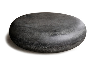 "Pebble 36"" Diameter Coffee Table (Fiberglass resin and aggregate in coal stone finish)"