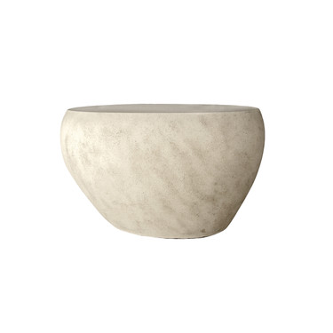 River Stone Coffee Table 26in (Fiberglass resin and aggregate in aged stone finish)