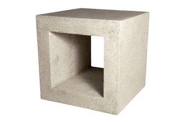 Ray Side Tables (Fiberglass resin and aggregate in white stone)