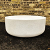"Mill Stone 36"" Cocktail Table (Fiberglass resin and aggregate  in white stone)"