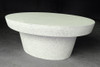 Cashi Oval Coffee Table (Fiberglass resin and aggregate in white stone)
