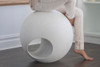 Sphere (Fiberglass resin and aggregate in white stone finish)
