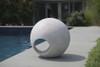 Sphere Sculpture (Fiberglass resin and aggregate in white stone finish)