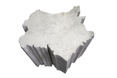 Bois Francis Cocktail Table (Fiberglass resin and aggregate in white stone finish)
