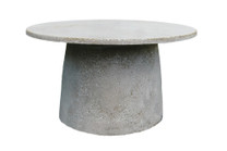 Hive 30in Coffee Table (Fiberglass resin and aggregate in white stone finish)