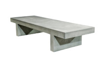 Palm Beach Cocktail Table (Fiberglass resin and aggregate in gray stone finish)
