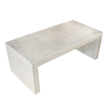 """Lynne Tell 48"""" Coffee Table (Fiberglass resin and aggregate in white stone)"""