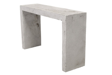 "Lynne Tell 48"" Console Table (Fiberglass resin and aggregate in white stone)"