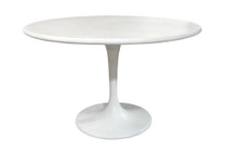 Spindle Dining Table (Fiberglass resin and aggregate in white stone finish)