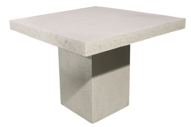 """Slab Dining Table - 48"""" Square (Fiberglass resin and aggregate in Aged Stone)"""