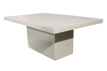 "Slab Dining Table 72"" (Fiberglass resin and aggregate in white stone finish)"