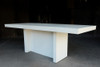 Slab Dining Tables - Narrow (Fiberglass resin and aggregate in white stone finish)