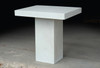 Slab Pedestal Table (Fiberglass resin and aggregate in white stone finish)