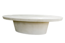 Cashi Dining Table (Fiberglass resin and aggregate in white stone finish)