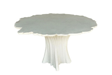 Perennial Cypress Dining Tables (Fiberglass resin and aggregate in white stone finish)