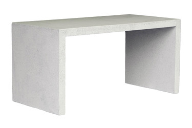 Waterfall Dining Table (Fiberglass resin and aggregate in white stone finish)