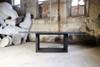 Apertura Dining Table (Fiberglass resin and aggregate in coal stone finish)