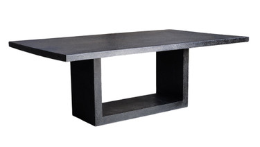 Apertura Dining Table (Fiberglass resin and aggregate in coal stone finish)