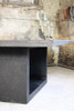 Apertura Dining Table Detail (Fiberglass resin and aggregate in coal stone finish)