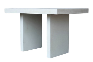 Ledge Dining Table (Fiberglass resin and aggregate in white stone finish)