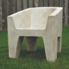 Van Eyke Armchair (Fiber resin and aggregate in white stone)