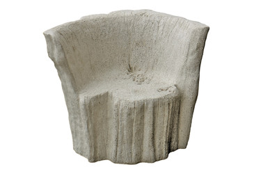Acacia Chair (Fiberglass resin and aggregate in aged stone)