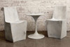 Stone Dining Chairs with Spindle Dining Table (Fiberglass resin and aggregate in aged stone)