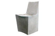 Stone Dining Chair (Fiberglass resin and aggregate in grey stone)