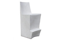 Stone Bar Chair (Fiberglass resin and aggregate in gray stone)