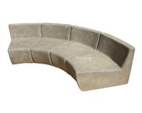 Mezzo Modular Sectional Sofa (Fiberglass resin and aggregate in gray stone)