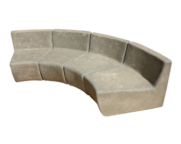 Mezzo Modular Sectional Sofa (Fiberglass resin and aggregate in gray stone)