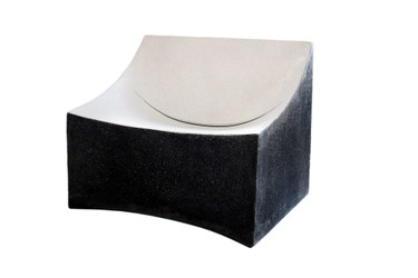 Lucio Lounge Chair (Fiberglass resin and aggregate in black and white dual tone finish)
