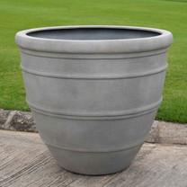 Avenida Garden Planters (fiberglass in Stone Grey Lite finish)