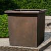 Bardo Square Garden Planters (fiberglass in rust finish)