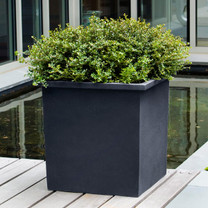 Bardo Square Garden Planters (fiberglass in black finish)