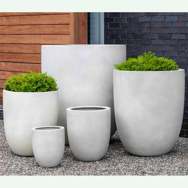Bradford Garden Planters (fiberglass in ivory finish)