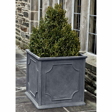 Cumberland Square Planter (fiberglass in lead finish)