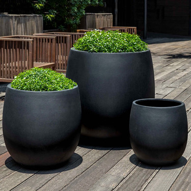 Guilford Planters (fiberglass in black finish)