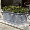 Hampshire Rectangular Planter Box (fiberglass in lead finish)