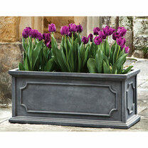Hampshire Rectangular Planter Box (fiberglass in lead finish)