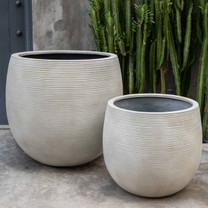 Marlton Planters (fiberglass in ribbed ivory finish)