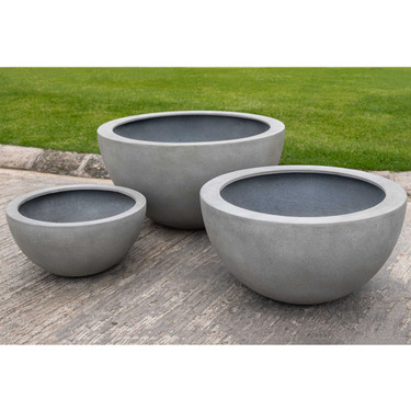 Piccadilly Planters (fiberglass in stone grey finish)