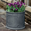 Portsmouth Round Planters (fiberglass in lead finish)