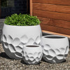 Prism Planter Set (fiberglass in gloss white finish)