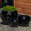 Prism Planter Set (fiberglass in gloss black finish)